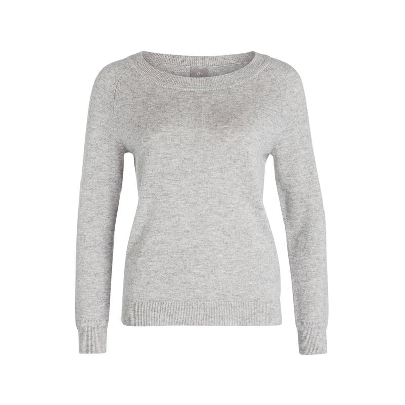 Grauer Cashmere-Pullover