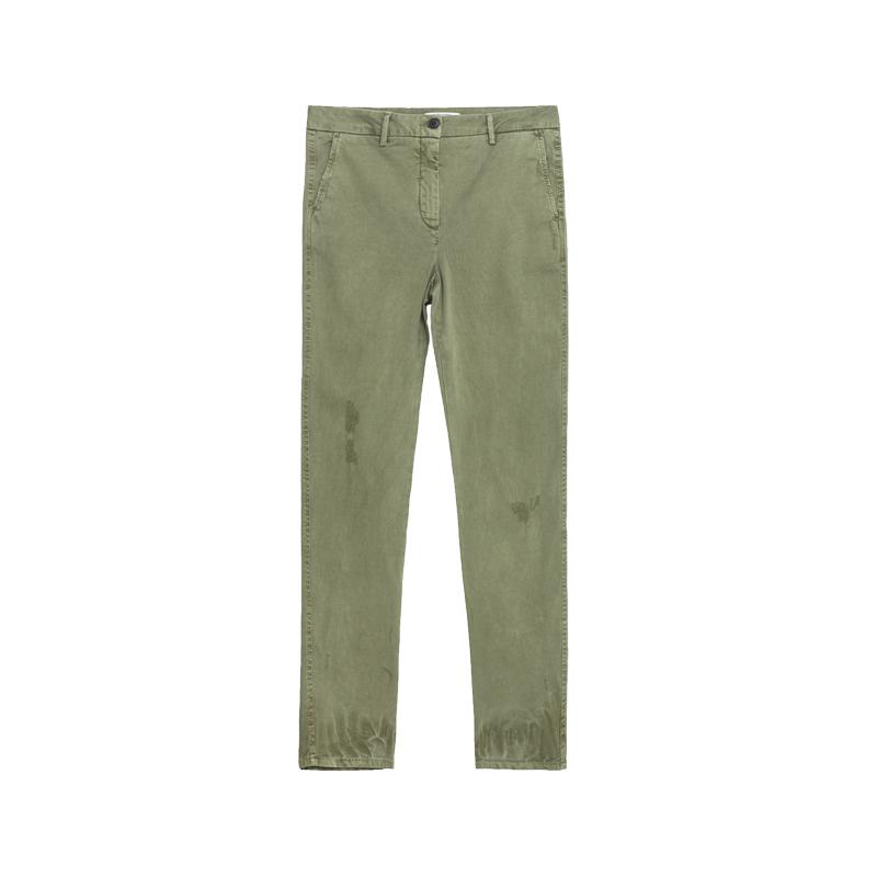 Grüne Chino-Hose von ZARA