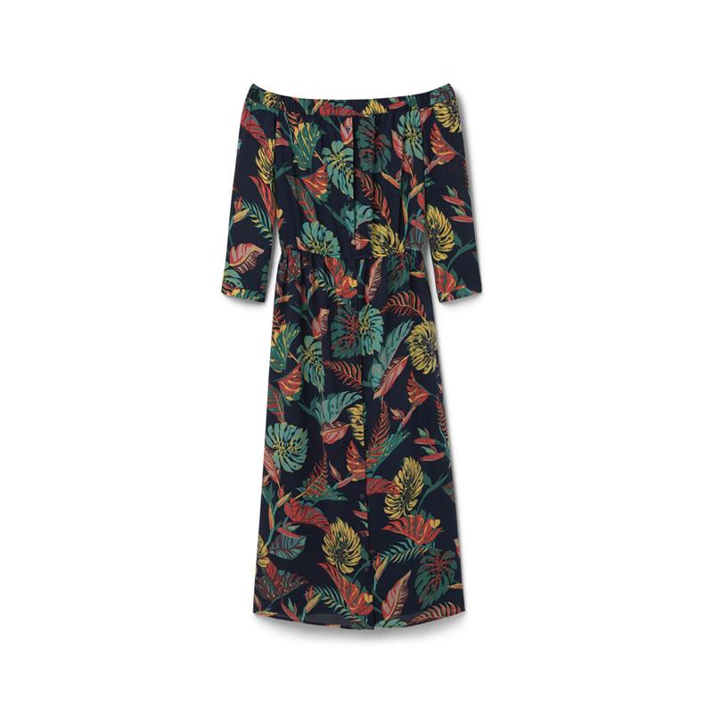 Kleid mit Tropenmuster von Mango
