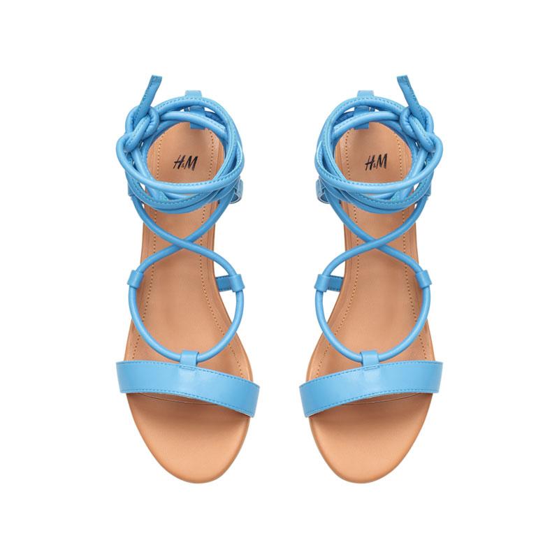 Blaue Sandalen von H&M