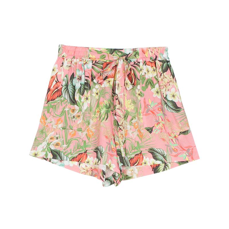 Shorts mit Blüten von Stradivarius