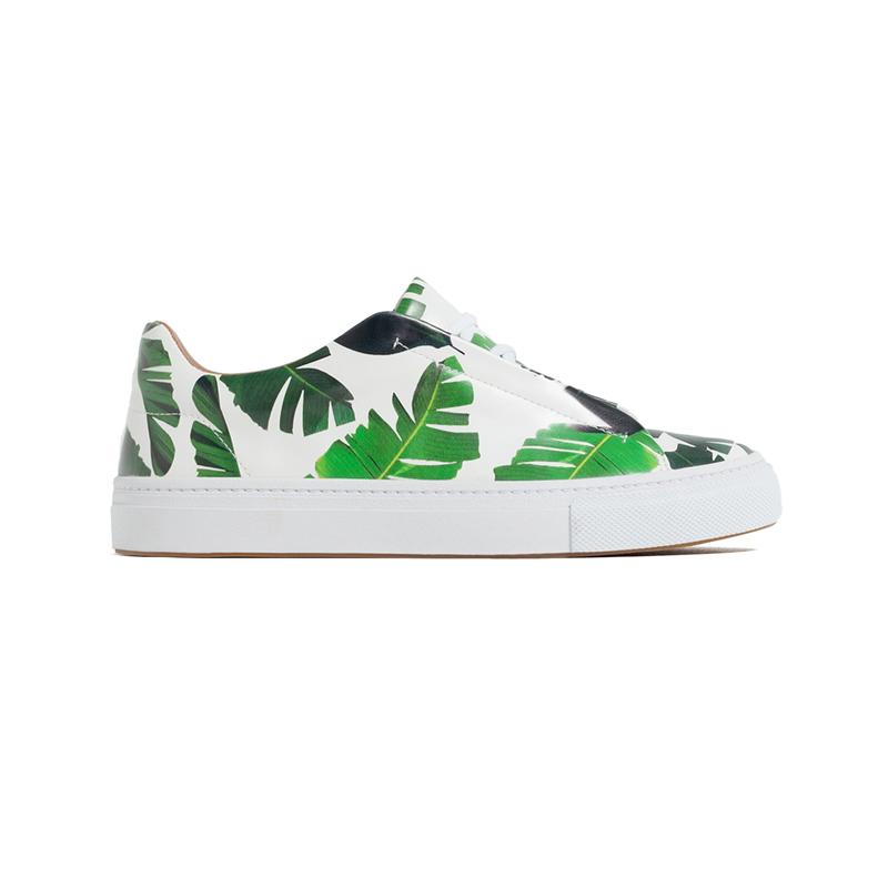 Sneaker mit Blättern von ZARA