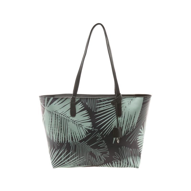 Tasche mit Palmenblättern von Stradivarius