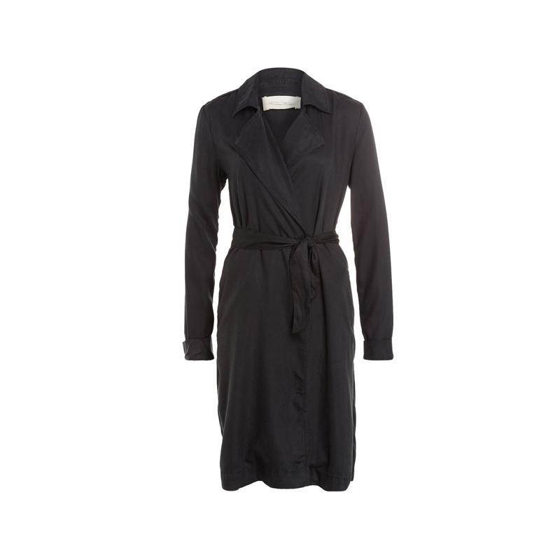 Schwarzer Trenchcoat von American Vintage
