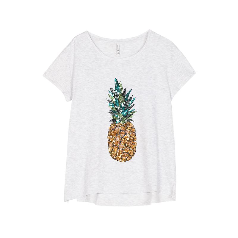 T-Shirt mit Ananas von Stradivarius