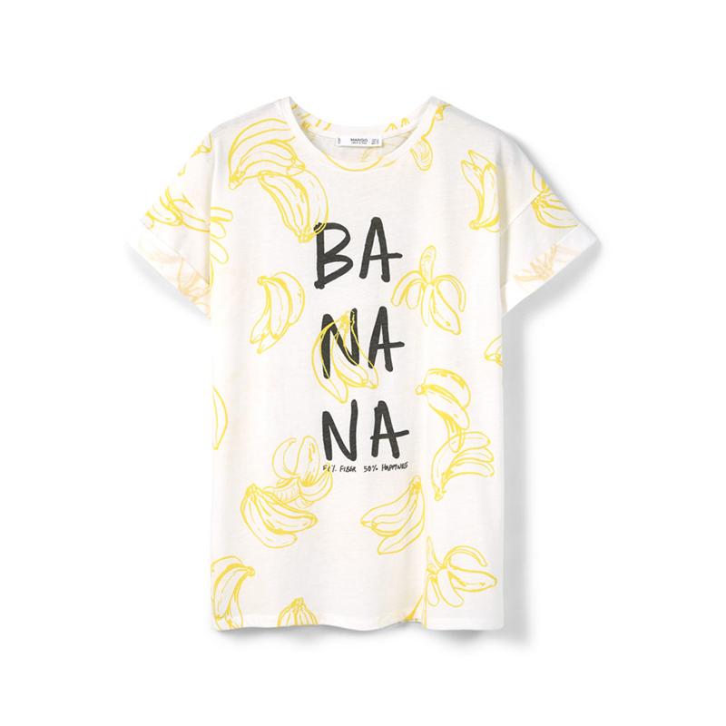 T-Shirt mit Bananen von Mango