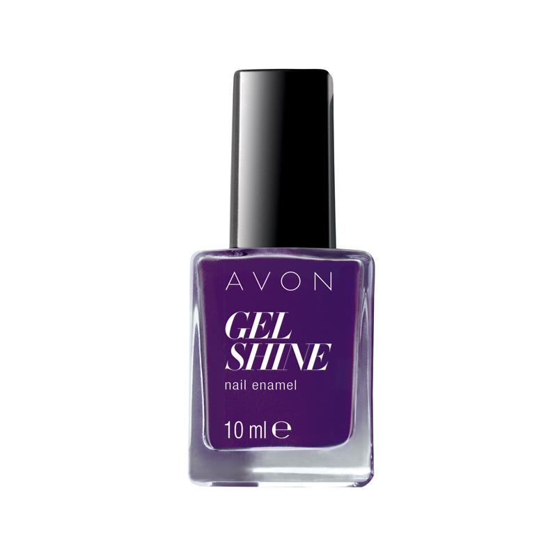 avon gel shine nagellack purplicious