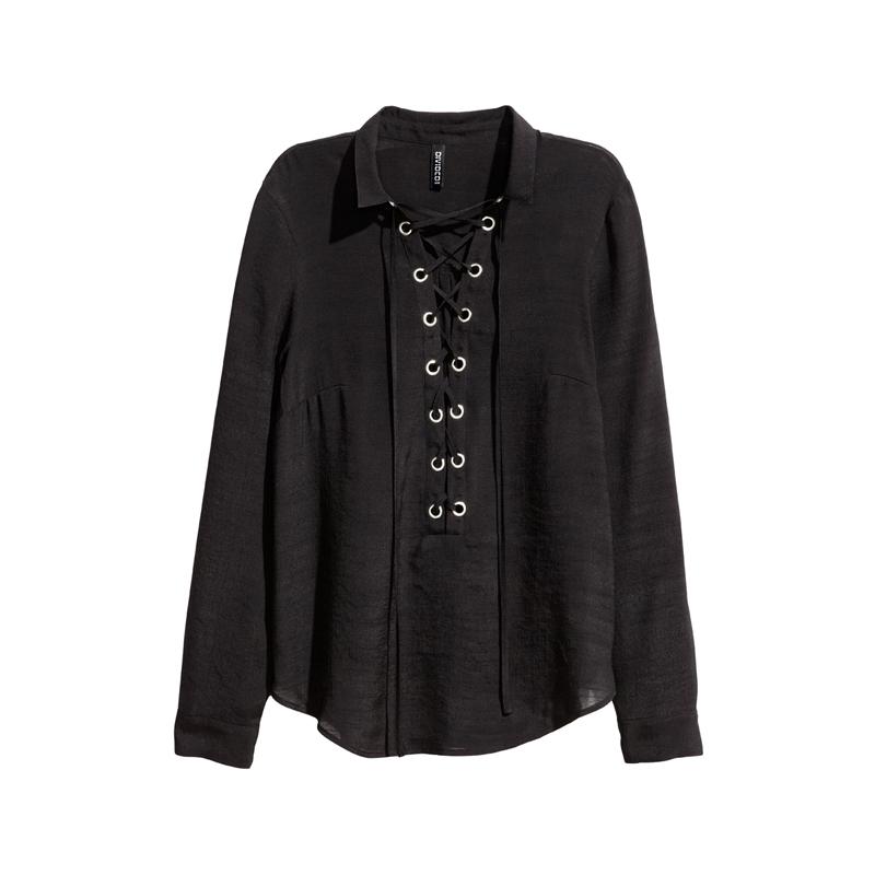 Bluse mit Schnürungen von H&M