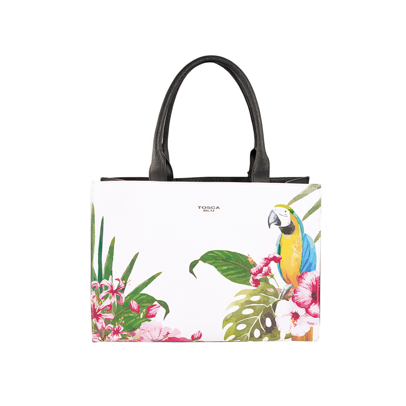 Handtasche mit Tropical-Print