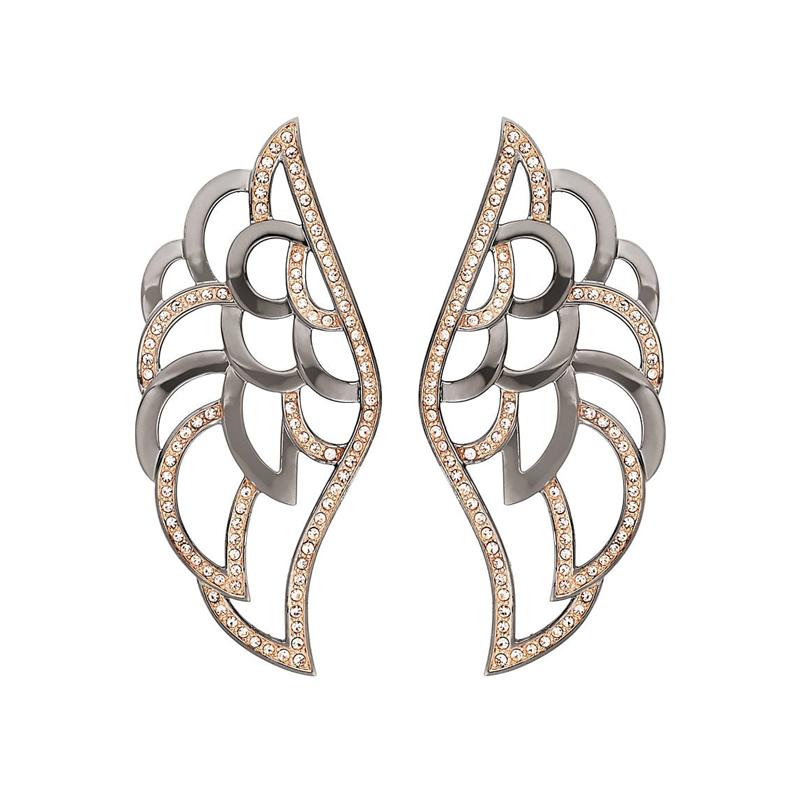 Ohrringe in Flügel-Optik