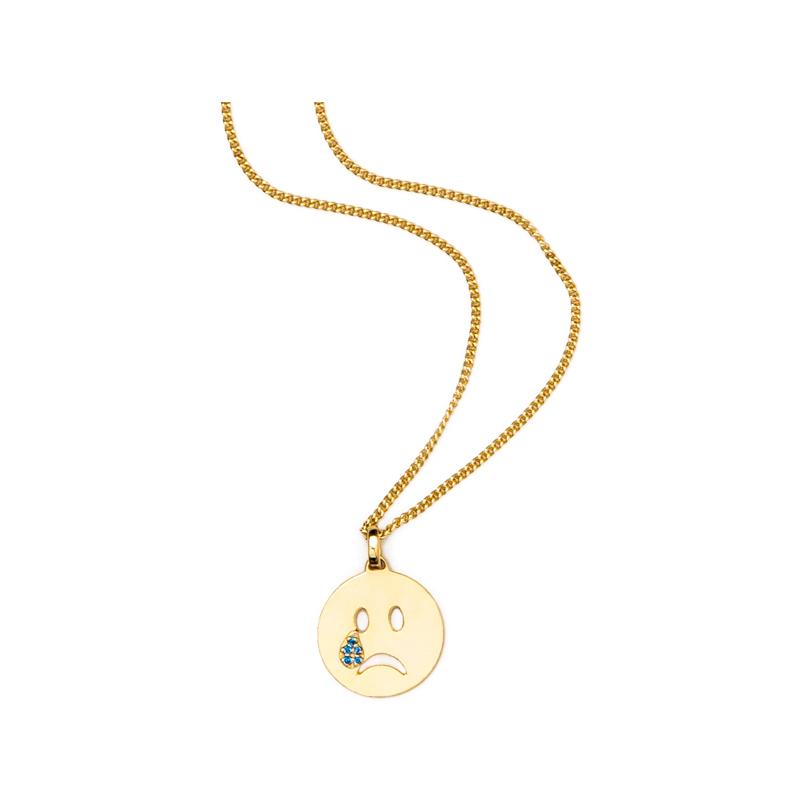 Goldene Emoji Kette