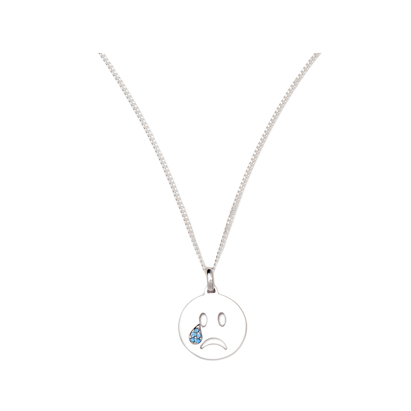 Silberne Emoji Kette