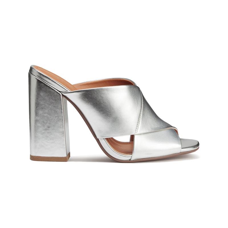 Silberne Schuhe von H&M