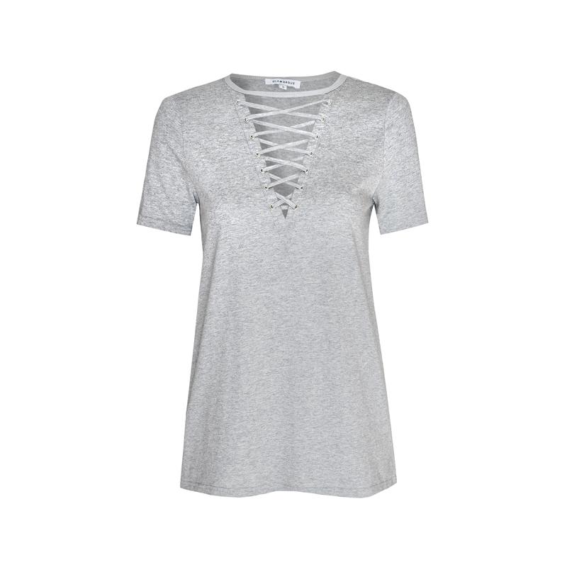 T-Shirt mit Schnürungen