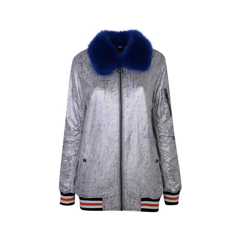 Silberne Jacke von Topshop