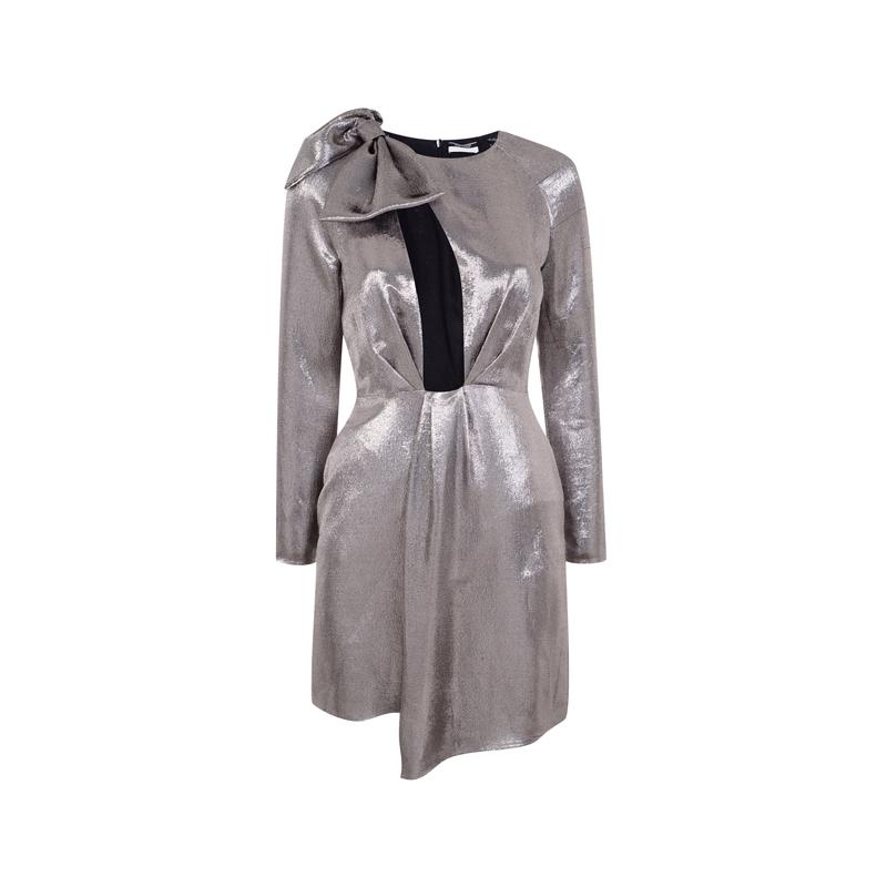 Silbernes Kleid von Topshop