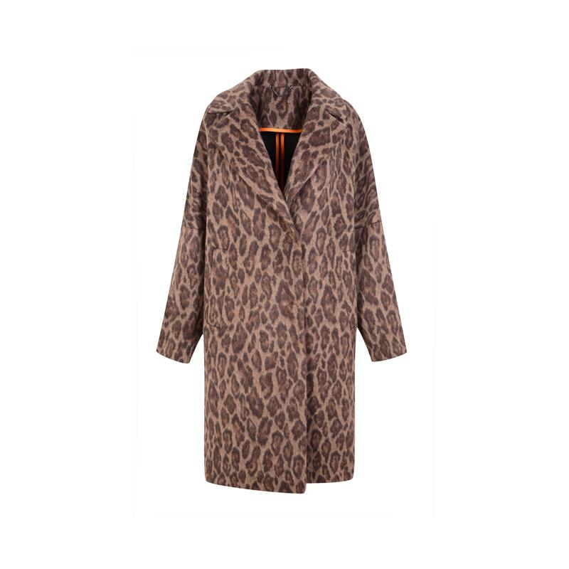 Mantel mit Leoprint