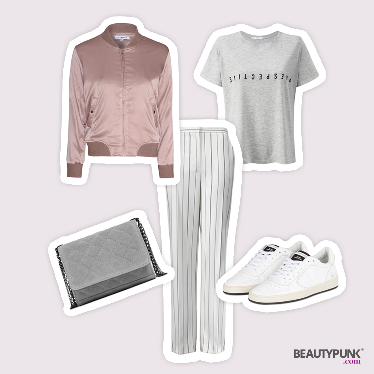 Outfit Speaker und Stoffhose