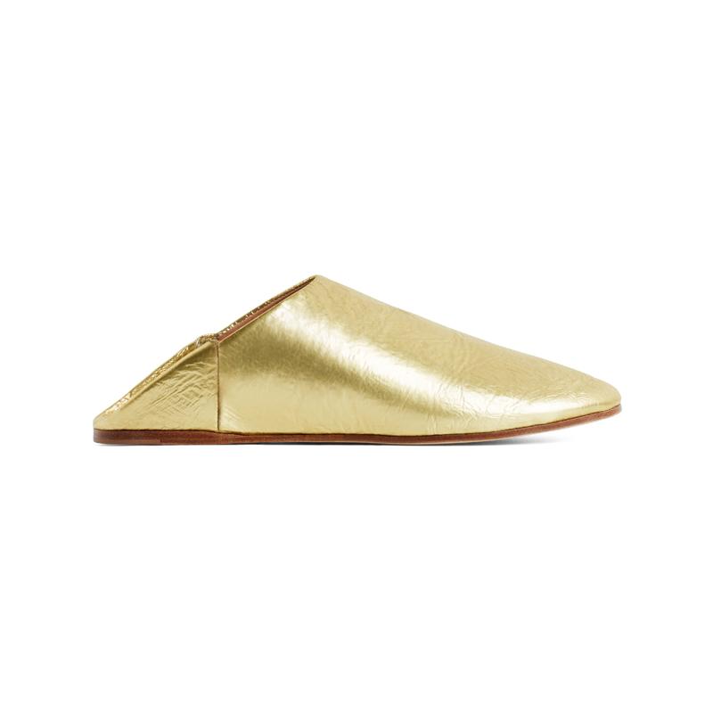 Goldene Schuhe von Anne Studios