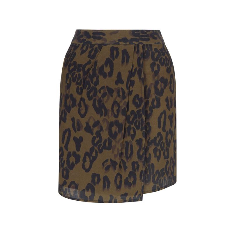 Rock mit Leoparden-Muster