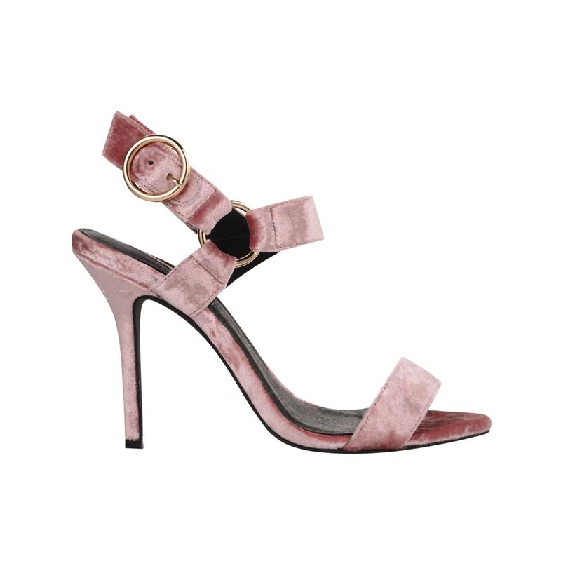 Samt Schuhe von Topshop