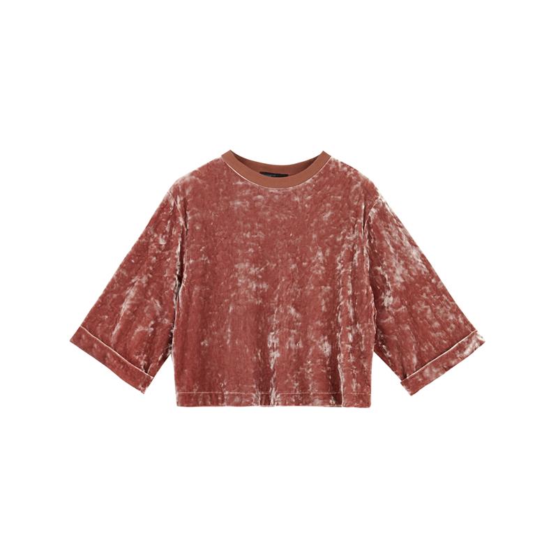 Samt Shirt von Bershka