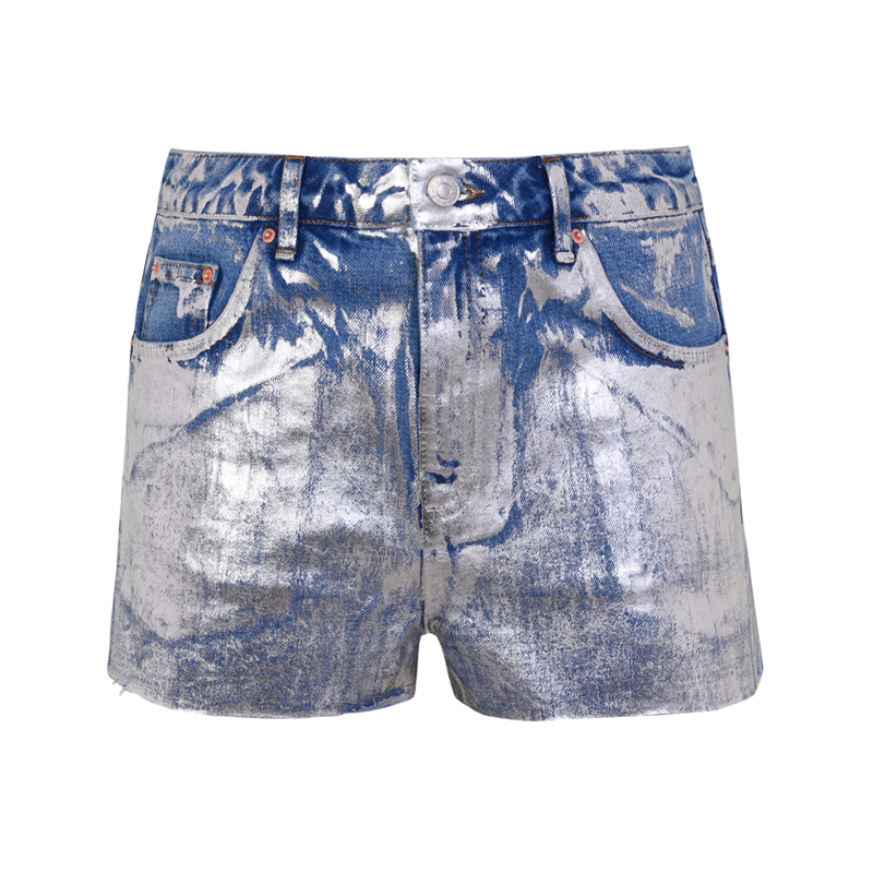 Metallic Shorts von Topshop
