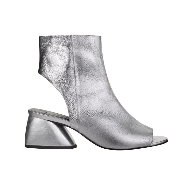 Silberne Stiefelette von Topshop