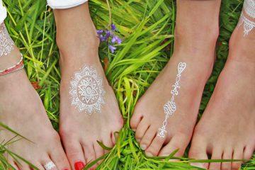 Weiße Henna Tattoos