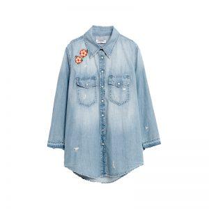 Jeans Bluse von ZARA