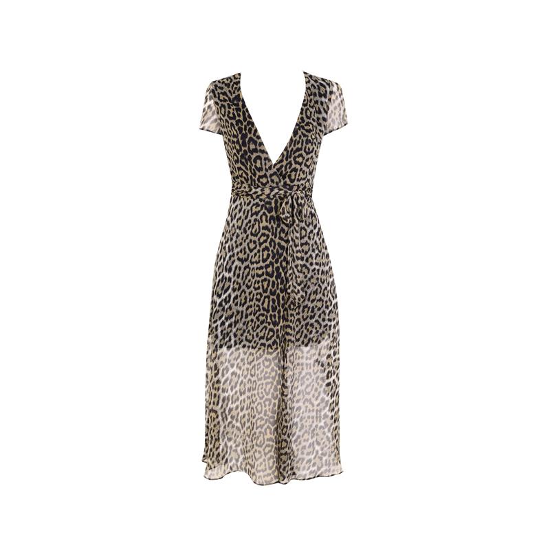 Kleid mit Leo-Print von Topshop