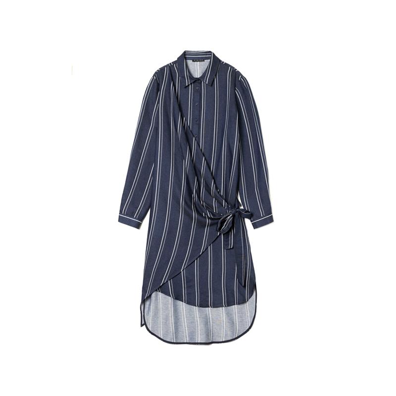 Kleid mit Nadelstreifen von Sisley