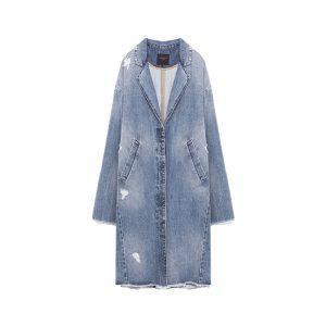 Hellblauer Jeans Mantel von ZARA