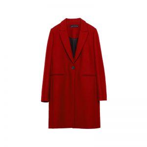 Roter Mantel von Zara