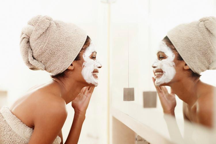 milch honig maske