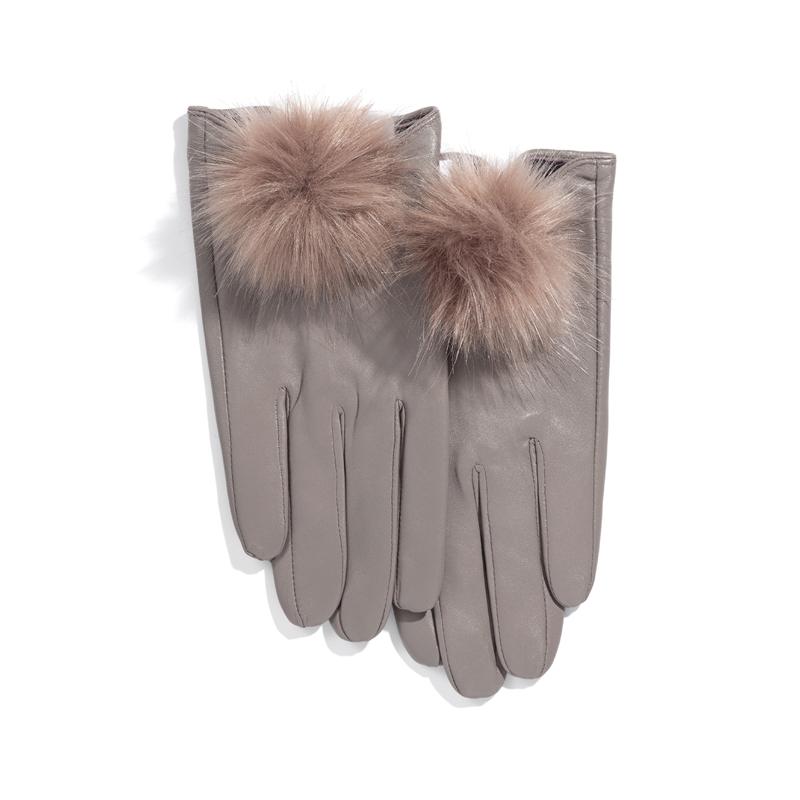 Handschuhe mit Fell-Bommel