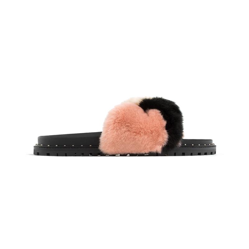 Fell-Sandale von ZARA