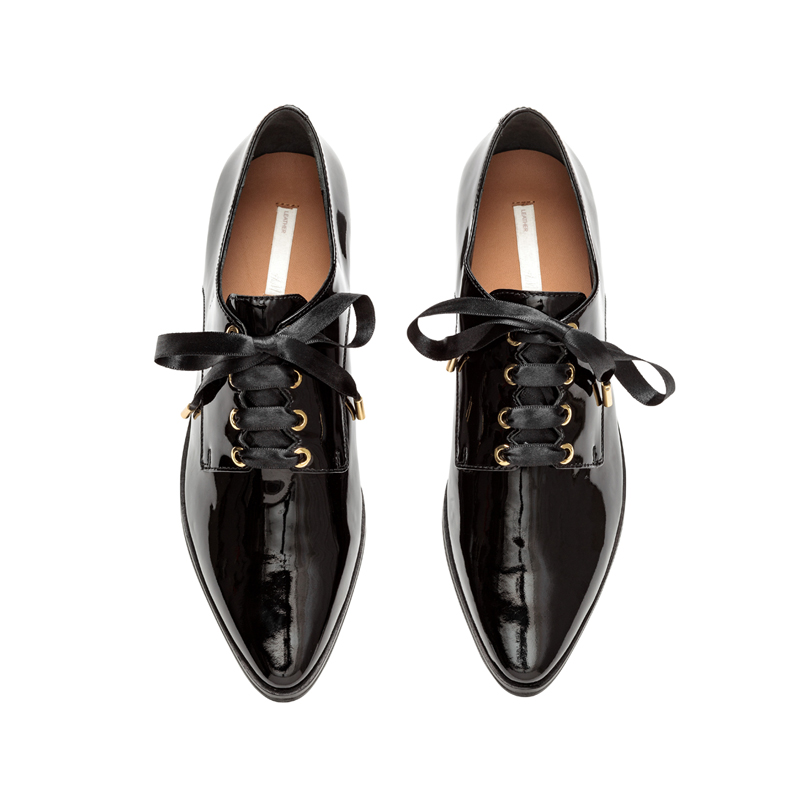 Schwarze Lack Schuhe von H&M