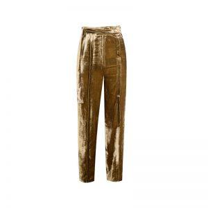 Goldene Samt Hose