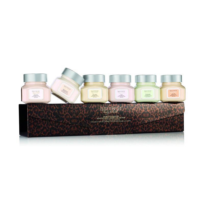 Für Duftliebhaber: Das Geschenkset mit sechs verschiedenen Body-Souffles von ©Laura Mercier. Himmlisch! Ca. 60 Euro, über Douglas
