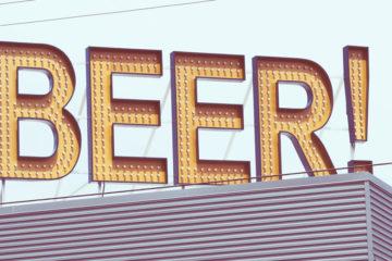 bier schild