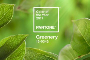 pantone trendfarbe greenery