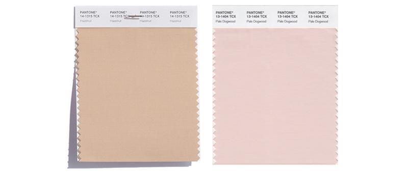 Trendfarben Hazelnut und Pale Dogwood