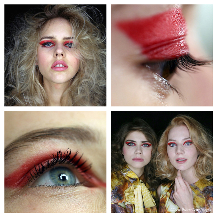 augen make-up rot