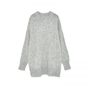 Grauer Oversize-Pullover von ZARA