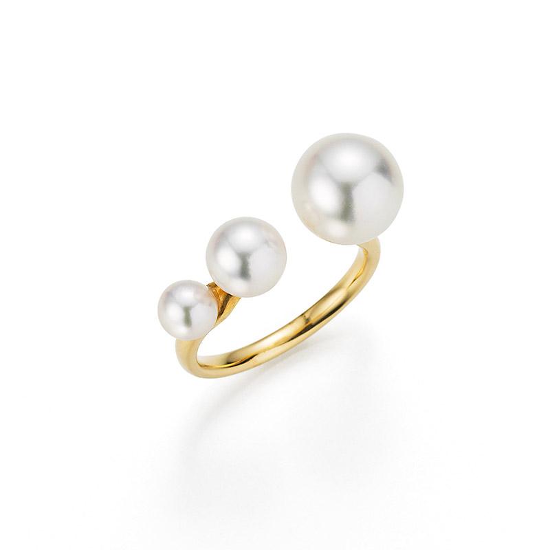 ring drei perlen