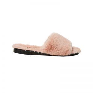 Sandale mit Plüsch-Fell