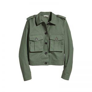 Grüne Utility Jacke von H&M