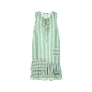 Gestreiftes grünes Kleid