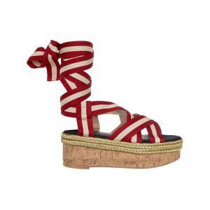 Sandale mit Schnürung